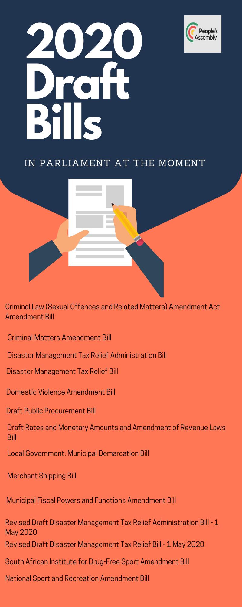 Draft bills 2020
