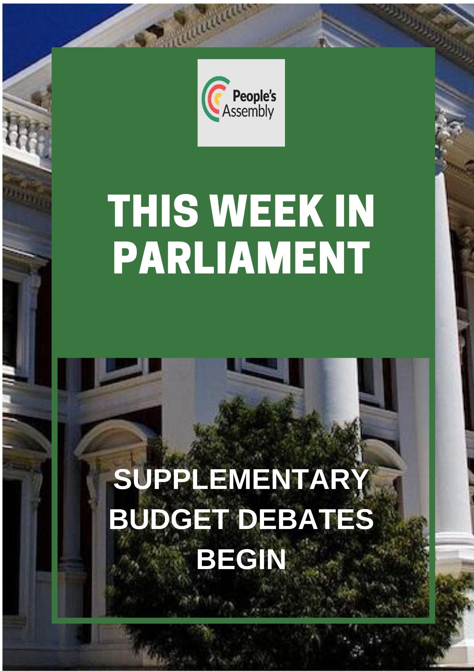 budget debates begin